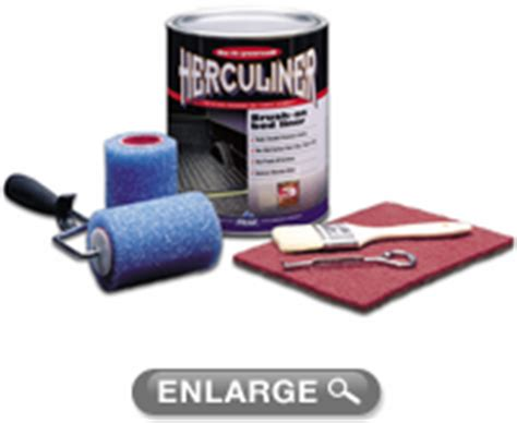 herculiner gray brush on truck bed liner kit gallon