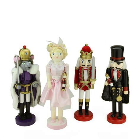 decorative nutcrackers for christmas set of 4 decorative wooden nutcracker suite ballet