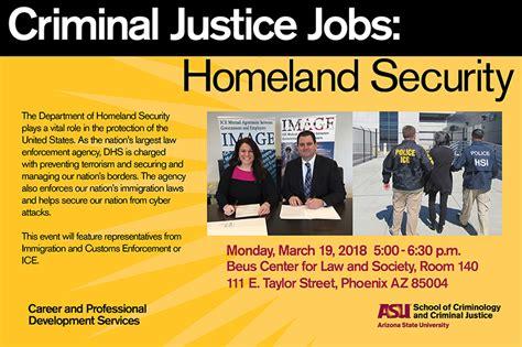 criminal justice jobs homeland security school