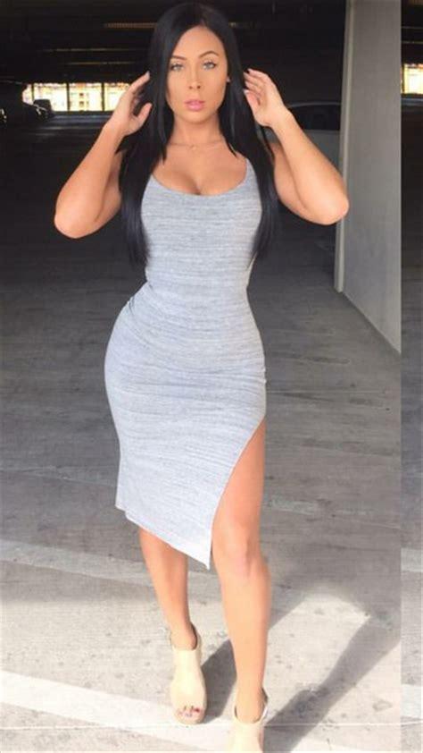 Dress Grey Grey Dress Side Split Short Dress Tights