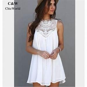 robe femme ete blanche robes de mode de 2018 With chambre bébé design avec robe droite fleurie