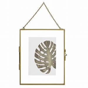 Cadre Photo 13x18 : cadre photo 13x18 suspendre en verre et m tal dor maisons du monde ~ Teatrodelosmanantiales.com Idées de Décoration