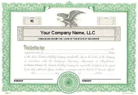 llc membership certificate template custom printed certificates limited liability company duke 16 llc membership certificates