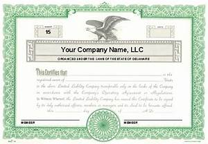 custom printed certificates limited liability company With llc membership certificate template
