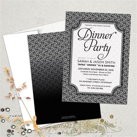 Stylish Black White Dinner Party Invitations. Website Development Contract Template. Youtube Channel Template. Punch List Template Excel. Call For Volunteers Template. Facebook Ad Design Template. Texas Eviction Notice Template. Bowling Invitation Template. Non Refundable Deposit Agreement Template