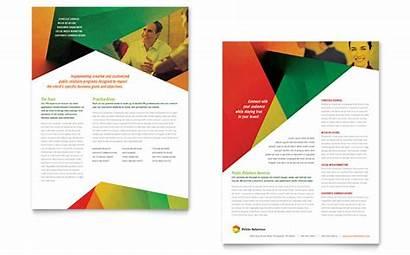 Datasheet Template Company Relations Templates Brochure Word