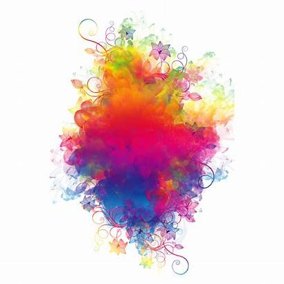 Smoke Clipart Rainbow Watercolor Colorful Smoking Transparent