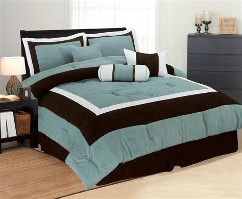 high quality micro suede comforter set bedding in a bag