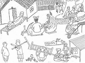 Village Life In India Drawing by Rajiv Banerjee