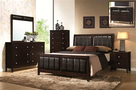 Coaster Carlton Upholstered Bedroom Set Cappuccino