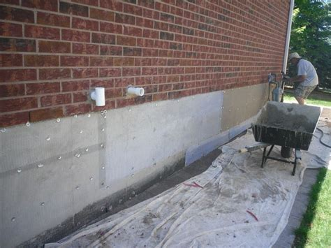 foundation repair parging   foundation repair