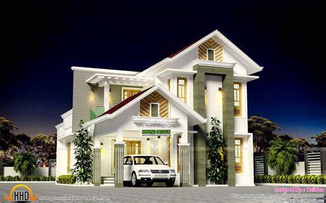 Beautiful 1796 Sqft Modern Mix Roof Kerala Home Kerala
