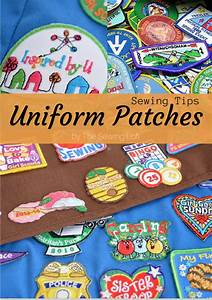 Sewing Uniform Patches - The Sewing Loft