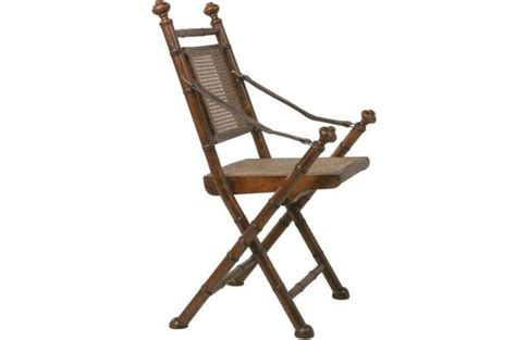 chaise pliante en bois  rotin naturel colonial chaise