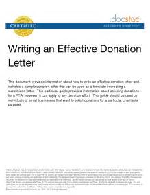 Sample Letter Asking for Donations Template