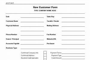 new customer setup form template quotes With new account application form template