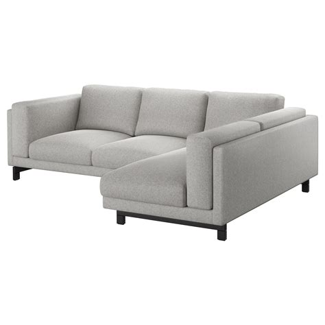 chaise rotin ikea nockeby 3 seat sofa with chaise longue right tallmyra