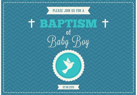 baby boy baptism vector invitation   vector
