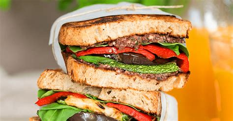 Vegan Mediterranean Sandwich