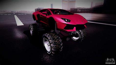 lamborghini aventador monster truck  gta san andreas