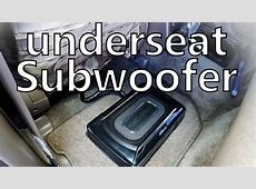underseat subwoofer Kenwood KSCSW11 review and sound