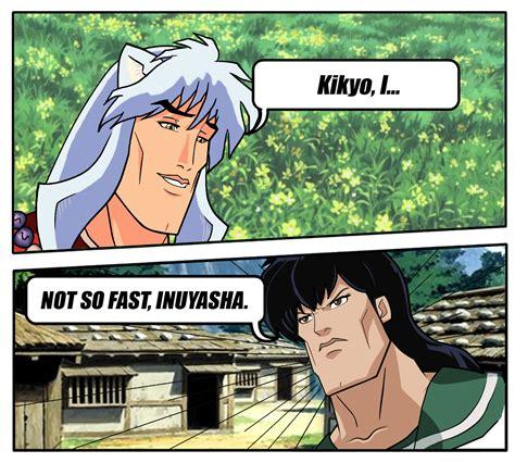 Inuyasha Memes - kikyo i not so fast inuyasha handsome face know your meme