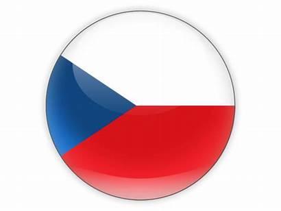Czech Flag Republic Round Icon Permit Cz