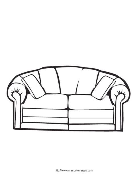 fabriquer canape coloriage objets de la maison meubles à colorier