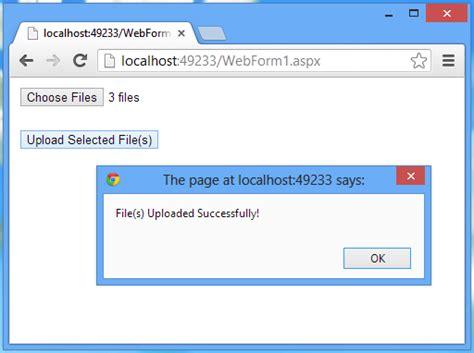 Uploading Files Using Asp.net Web Forms, Generic Handler