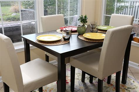 pc ivory leather  person table  chairs ivory dining