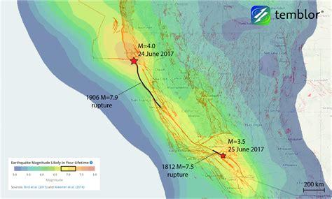 weekend earthquakes along the san andreas fault tips