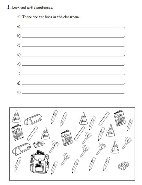 there is there are simple worksheet