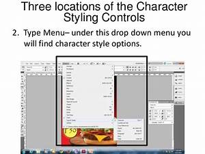 Adobe indesign character formatting