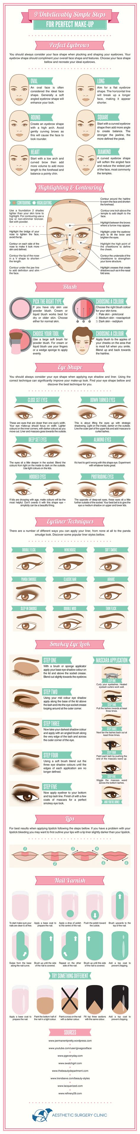 9 Unbelievably Simple Steps For Perfect Makeup Visually