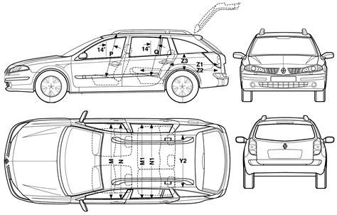 car blueprints renault laguna ii blueprints vector drawings clipart and pdf templates
