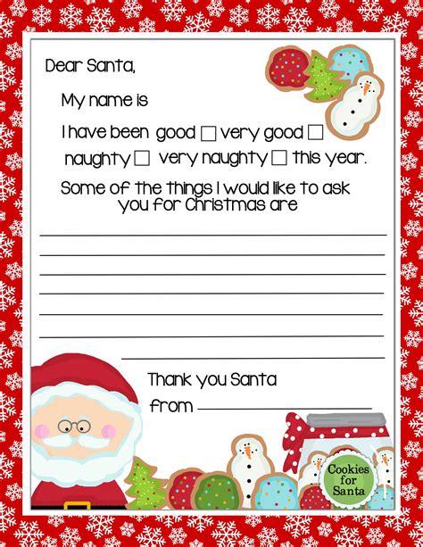 letter  santa print  christmas printables