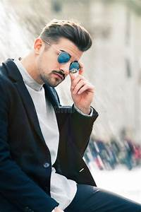 Cool Handsome Fashion Young Man  Stylish Man In The City Stock Photo