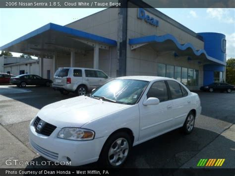 white nissan sentra 2006 cloud white 2006 nissan sentra 1 8 s taupe beige
