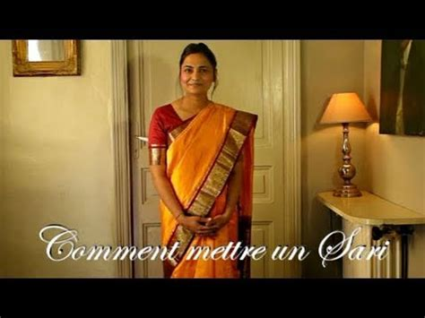 cuisine indienne comment mettre un sari ou saree indien