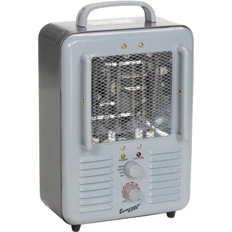comfort zone heater comfort zone cz798 deluxe milkhouse heater gray 1300 1500w