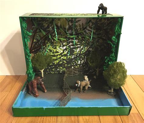 plastic drop cloth for primate habitat diorama for science class