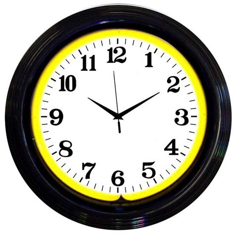 lighted clocks for sale standard neon wall clocks for sale