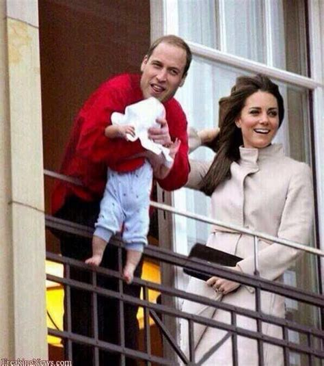 Michael Jackson Hangs Baby Over Balcony by Kate Middleton Amp Prince William Show Off Baby Boy Hours