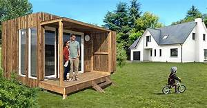 Chalet Habitable Sans Permis De Construire : petite maison en bois 20 m2 maison eco bois ~ Dallasstarsshop.com Idées de Décoration