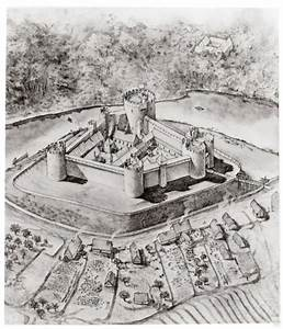 Reconstruction Drawing Of Bothwell Castle