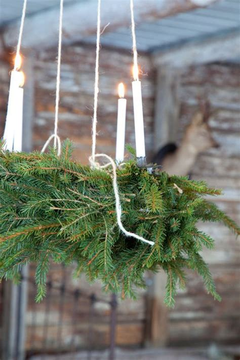 diy christmas chandelier  natural ideas house