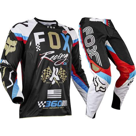 motocross gear fox fox racing 2017 mx new 360 rohr black gold jersey pants