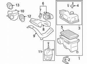 Toyota Sienna Engine Air Intake Hose  3 5 Liter  Transaxle