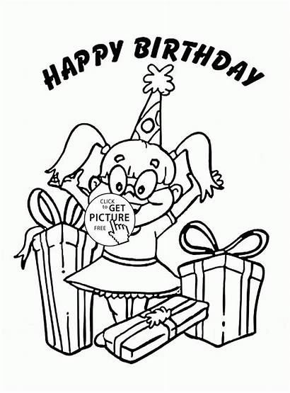 Coloring Birthday Happy Pages Holidays Wuppsy Holiday