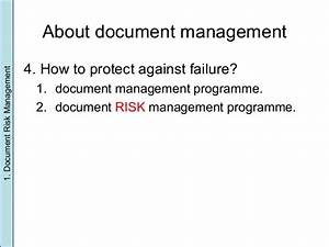 document risk management With documents for risk management
